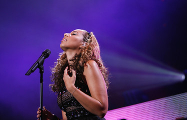 British singer Lewis performs during Z100 Jingle Ball in New York