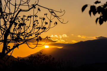 Isernia, tramonto