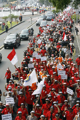 Protesters shouts slogans during a rally in Jakarta