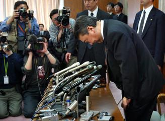 JAPANESE FARM MINISTER TADAMORI OSHIMA RESIGNS OVER MONEY SCANDAL.