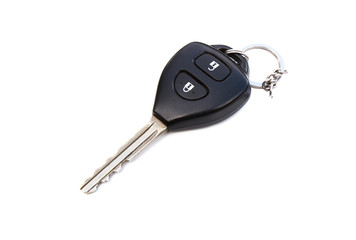 Key car remote control isolated on white
