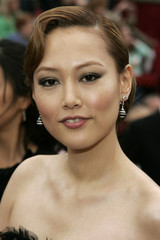 """Japanese actress Rinko Kikuchi nominated for best supporting actress in """"Babel"""" arrives at the 79th Annual Academy Awards in Hollywood,"""
