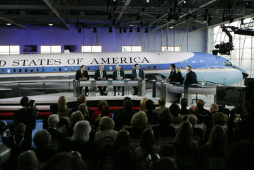 Candidates at the CNN/Los Angeles Times Republican presidential debate at Ronald Reagan Presidential Library in Simi Valley