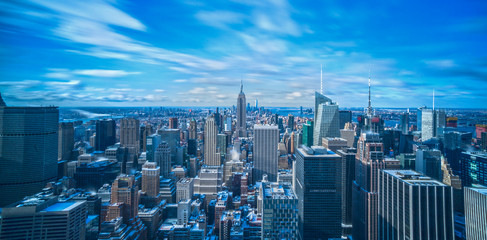 New York panoramic view from top of the Rockefeller