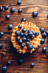 Waffle with Blueberry.
