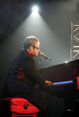 "Elton John performs during ""Dream Ticket"" DVD launch party in Las Vegas."