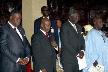LIBERIA'S INTERIM LEADER BRYANT ATTENDS INAUGRATION CEREMONY INLIBERIA.