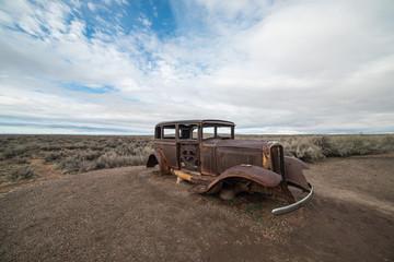 Rusty, Abandoned Car on Route 66, Petrified Forest National Park, Arizona
