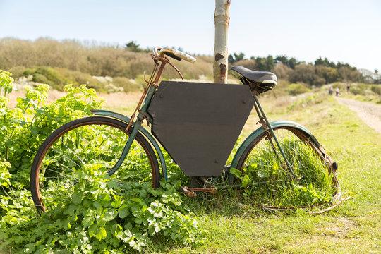 Bike with black board
