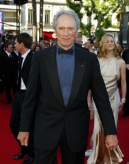 """U.S. DIRECTOR EASTWOOD AND CAST ARRIVE FOR """"MYSTIC RIVER"""" AT 56THINTERNATIONAL FILM FESTIVAL IN CANNES."""
