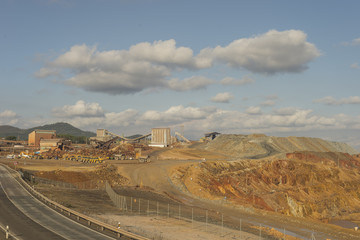 Fototapeten Route 66 Cuenca mining Riotinto Huelva Andalusia Spain