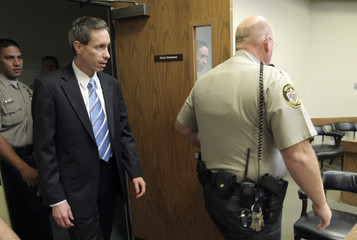 Jeffs arrives at court to hear the verdict against him in St. George, Utah
