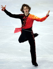Germany's Silvio Smalun performs in the free men's event at Paris' ISU Grand Prix of Figure Skating ..