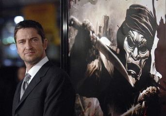 """Cast member Gerard Butler attends the premiere of the film """"300"""" held at the Grauman's Chinese Theatre in Hollywood"""