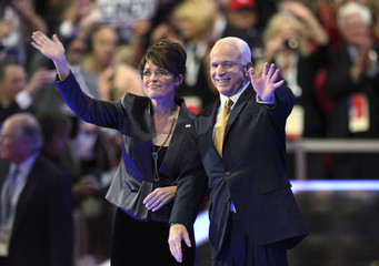 U.S. Republican presidential nominee Senator McCain and vice-presidential nominee Alaska Governor Palin are onstage at Republican National Convention in St. Paul