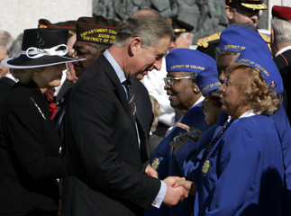 Prince Charles and Camilla greet WWII female veterans