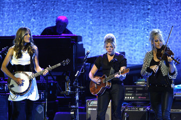 Dixie Chicks, Emily Robison, Natalie Maines and Martie Maguire perform at the opening night of the Nokia Theatre L.A. Live in Los Angeles