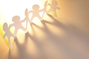 Teamwork paper chain