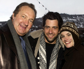 "The cast of the film ""Milwaukee, Minnesota,"" (L-R) Randy Quaid, Troy Garity and Alison Folland, pose.."