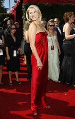 "Actress Ali Larter, from ""Heroes,"" arrives at the 59th Primetime Emmy Awards in Los Angeles"