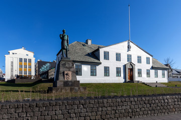 Stjornarradid, the location of the prime minister's office and the headquarters of the Icelandic Government.