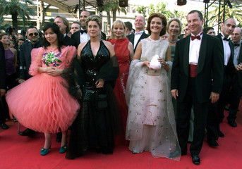 DANISH DIRECTOR VON TRIER AND CAST AT CANNES FILM FESTIVAL.