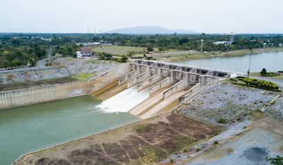Dam gate of Pa Sak Cholasit Dam Project