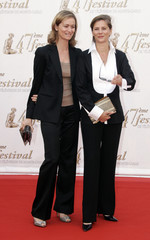 French TV journalists Guilaine Chenu and Francoise Joly attends the opening night of the 47th Monte Carlo television Festival in Monaco