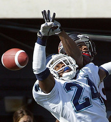 ARGOS BALL BREAKS UP PASS INTENDED FOR RENEGADES GIDEON.