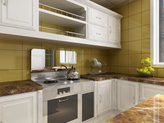 rendering kitchen room