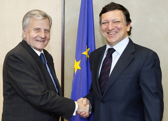 European Central Bank President Trichet meets European Commission President Barroso in Brussels