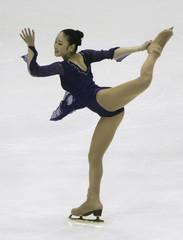 Japan's Yukari Nakano competes in women's Single Short Program Figure Skating event at Asian Winter Games in Changchun