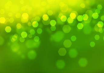 Abstract circular green bokeh background. Graphic resources design template.