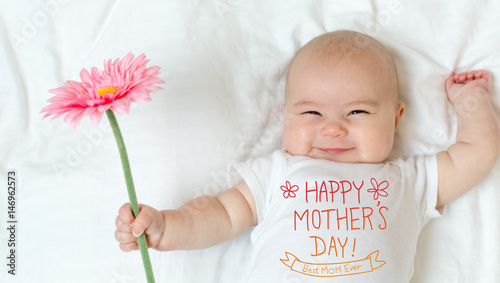Mother's Day message with baby girl