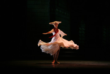 Ballerina of Bocca's company performs in Madrid