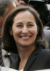 France's Socialist party presidential candidate Royal campaigns in Paris