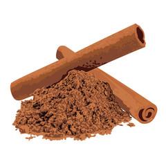 Cinnamon spice vector illustration