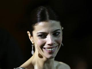 "Actress Verdu smiles after winning award of Best Actress for film ""Siete mesas de billar frances"" in Madrid"