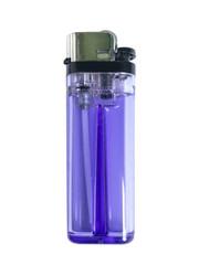Violet lighter, Violet cigarette lighter isolate on white background.
