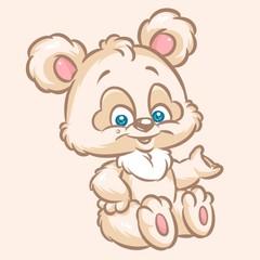 bear cheerful animal cartoon illustration image