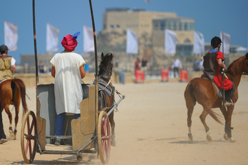A spectacular horse show in the Caesarea hippodrome during Passover holiday 2017