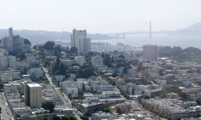View of the Russian Hill district of San Francisco
