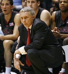 Maryland head coach Gary Williams reacts during the second half of his team's NCAA basketball game against North Caorlina in Chapel Hill
