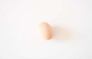 Egg isolated on White Background. Organic chicken egg