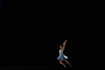 A dancer from Scottish Ballet dances during dress rehearsals for the premiere of their 'Romeo and Juliet' production at the Festival Theatre in Edinburgh