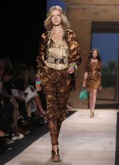 Models present creations at the Diane von Furstenberg Spring 2010 collection during New York Fashion Week