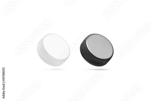 Blank plastic bottle caps mock up set isolated black and white blank plastic bottle caps mock up set isolated black and white 3d rendering pronofoot35fo Image collections