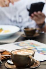 Coffee with newspaper