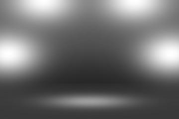 Product Showscase Spotlight on Black Background - Clear Infinite Horizon Dark Floor - Room Stage for Modern Clean Minimalist Scene Design, Wide-Screen in High Resolution