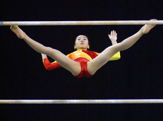Cheng of China competes at the Gymnastic World Championships in Melbourne